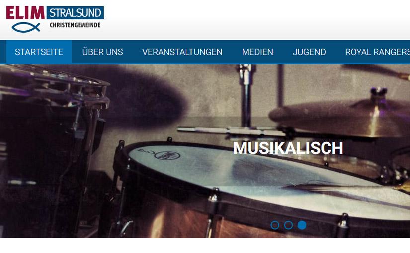 Webseite für die Elim Gemeinde