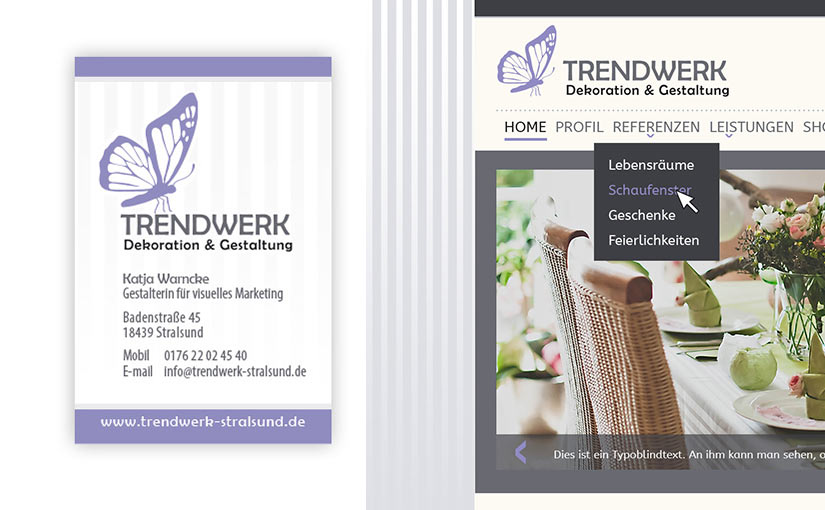 Corporate Design für Trendwerk Stralsund
