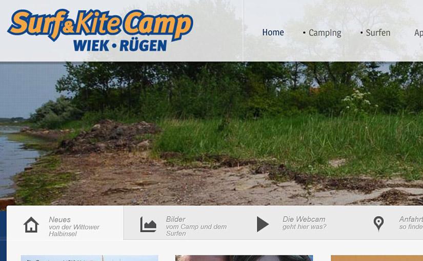 Internetpräsenz Surf und Kite Camp Wiek- Rügen